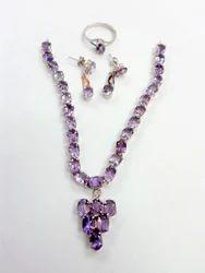 Rhodium Necklace Set