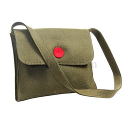 Woolen Grey Lady Laptop Bag
