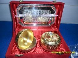 Corporate Gold & Silver Platter Serving Platter
