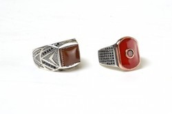 Silver Multi Colour Stone Ring
