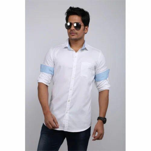 876f06fe44949 Designer White Linen Shirt at Rs 400  piece(s)