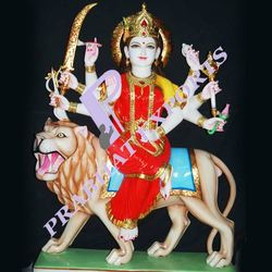 Traditional White Decorative Maa Durga Statues