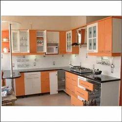 Wooden Modular Kitchen Trolley रस ई क ट र ल Jai