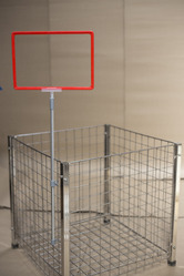 Telescopic Frame Holder for Wire Baskets