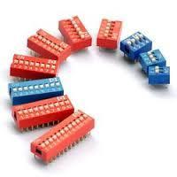 Automatic Red, Blue Single DIP Switches