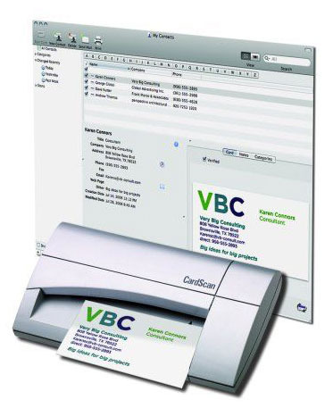 Visiting Business Card Scanner To Excel Or Outlook Card