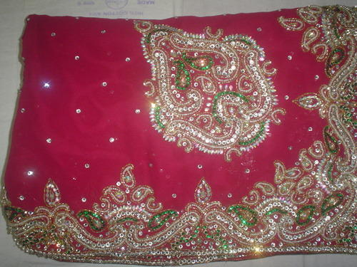 Hand Embroidered Saree View Specifications Details Of Hand