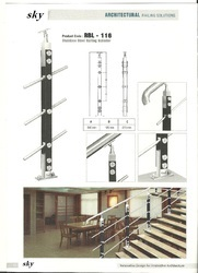 Stainless Steel Wood Stair Railings