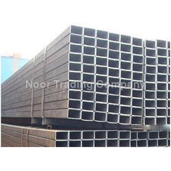 Black Rectangular MS Steel Pipes