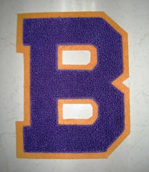 B chenille letter patch