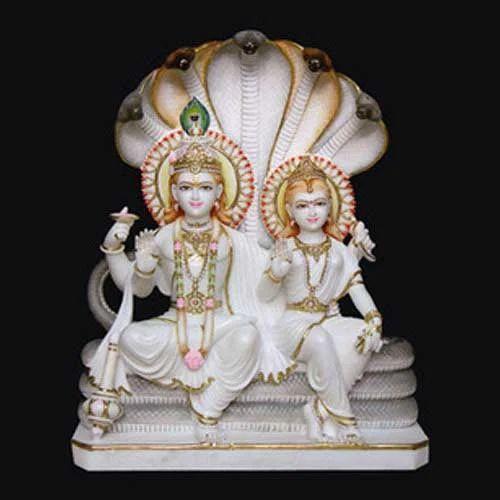 Marble Laxmi Narayan Statue White Marble Laxmi Narayan