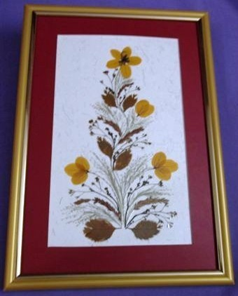Floral Wall Frame Small
