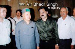 Hon'ble C.M. of Himachal Pradesh Mr. Vir Bhadra Singh