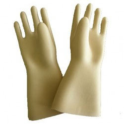 Electrical Safety Unisex Rubber Hand Gloves, Disposable: No