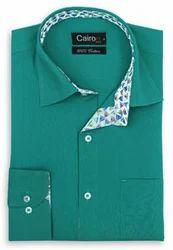 Cairon Green Solid Filafil Clubwear Shirt