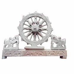 Stone Scraping Sun Temple Wheel, Size: 8
