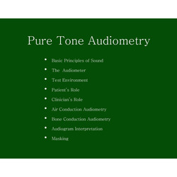 Pure Tone Audiometry Service