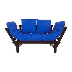 Arra Beat Futon With Mattress - Blue