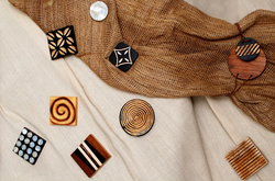 Wooden Curtain Magnets