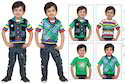 Half Sleeves Cotton Printed Kids Baba Suit