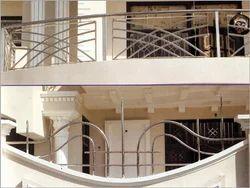 S S Designs Balcony Railings Ss Railings स ट नल स स ट ल र ल ग In Sayyad Road Bahadurgarh Saini Glass Aluminium Fabrication Id 6797428255