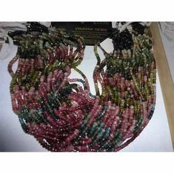 Multi Tourmaline Cut Beads