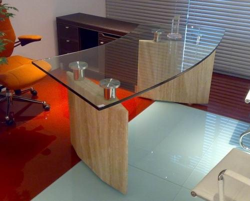 Office Table Glass. Modern Table With Glass Top Office