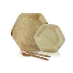 Hexagonal Palm Leaf Plates