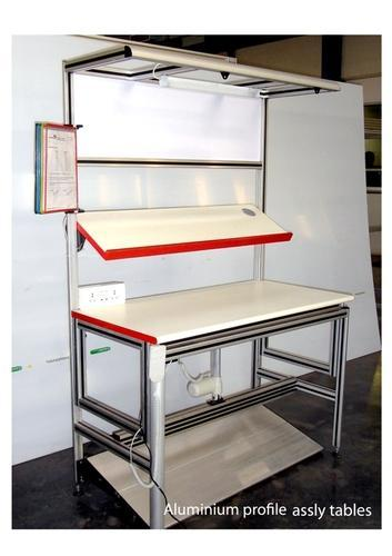 Assembly table in aluminium extrusion at rs 40000 set waluj assembly table in aluminium extrusion greentooth Choice Image