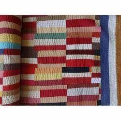 Brick Pattern Patchwork Kantha Quilt