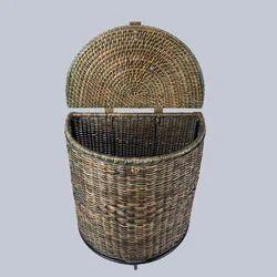 Half Round Wicker Laundry Basket