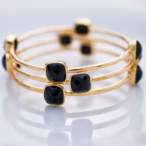 Bezel Black Onyx Bracelet