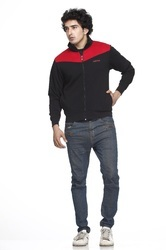 Casual Wear Men Cut And Sew Polyester Zipper Jacket