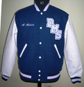High Royal White Varsity Jacket