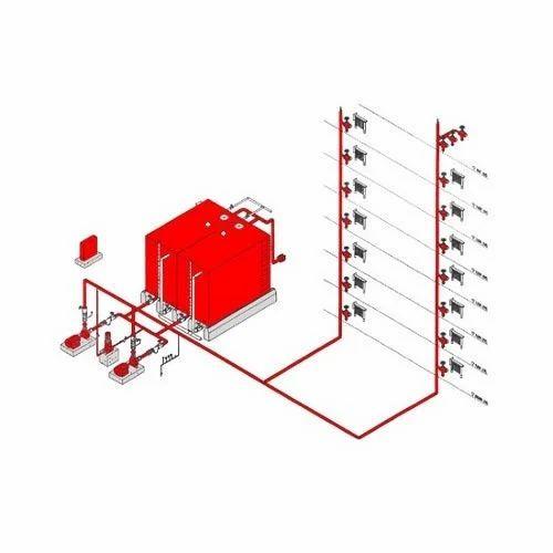 Mep Shop Drawing Fire Fighting System Service X on Fire Sprinkler System Riser Diagram