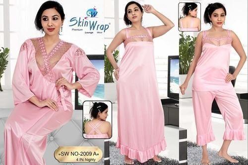 Ladies Night Dress - Trendy Six Piece Nighties Manufacturer from Ahmedabad fdfa7d7e5