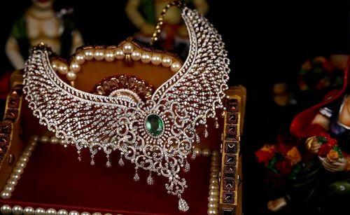 Bridal Diamond Necklace Sets At Rs 550000 Piece S ह र क ह र क स ट Diamond S Heritage Mumbai Id 4965698691