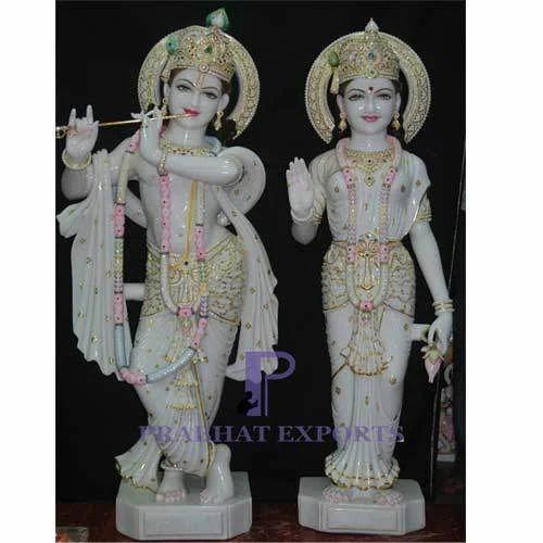 Marble Radha Krishna Statue - Marble Lord Radha Krishna
