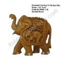 Sandalwood Carved Elephant Statue