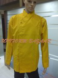 Yellow Colored Chef Coats - CU-26