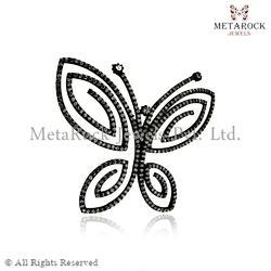 Diamond Butterfly Design Charm Pendant