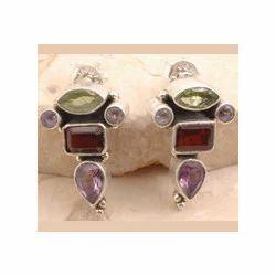 Peridot Garnet Earrings
