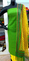 Green And Yellow Cotton Suit