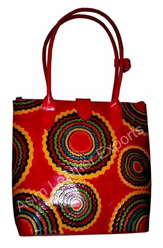00bcb2298bb Ladies Leather Handbags - Leather Shopping Bag Exporter from Kolkata