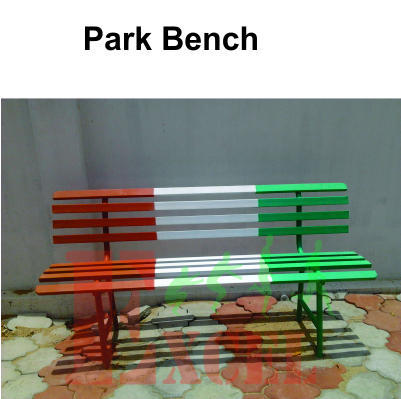 Magnificent Wooden Green Park Bench Excel Fitness Sports Id Machost Co Dining Chair Design Ideas Machostcouk