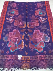 Viscose Acrylic Multi Colour Embroidered Stoles