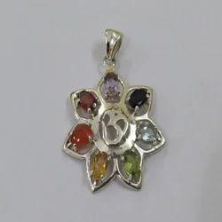 925 Silver Gemstone Chakra Pendant