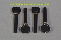 Ebony Baroque with Gold Pin
