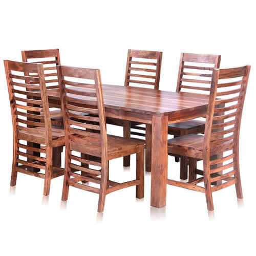 Soho Solid Wood Dining Table Set With 6 Chairs