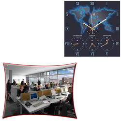 Glass World Clock for Offices